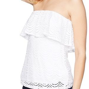 Lilly Pulitzer White Tube Top
